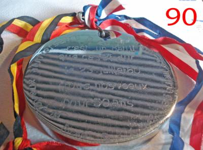 Medaille voeux 50 ans